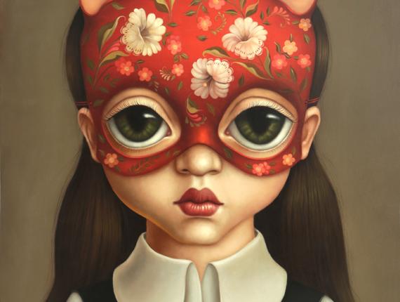 """Cat girl"" - Óleo de la artista Flor Padilla. (Créditos: Flor Padilla)."