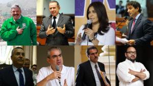 Ex ministros, ex congresistas y alcaldes de los distritos de la capital son algunos de los que desean sentarse en el sillón municipal. (Fotomontaje: Luis Pérez)