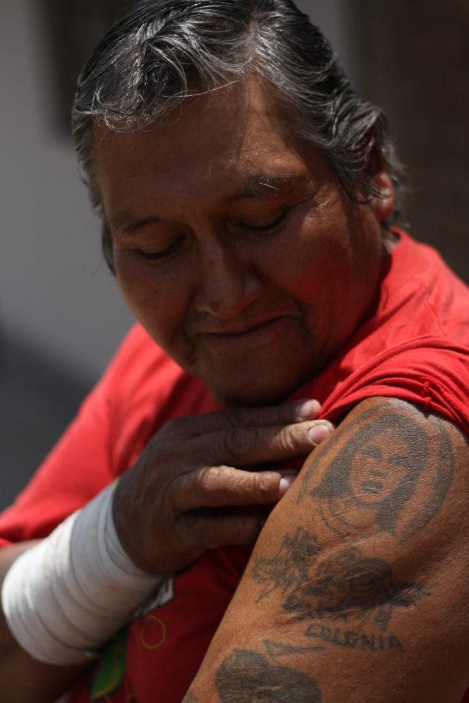 """""""La Sara"""", tatuaje realizado en prisión (Foto por Salvador Candia)"""