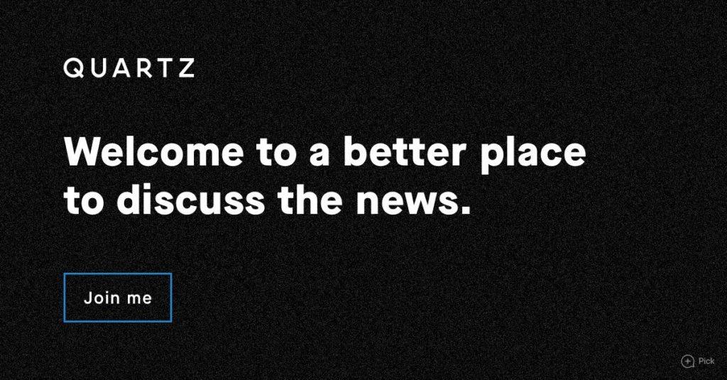 Quartz es un medio minimalista con contenido para todos que solo esta en ingles.