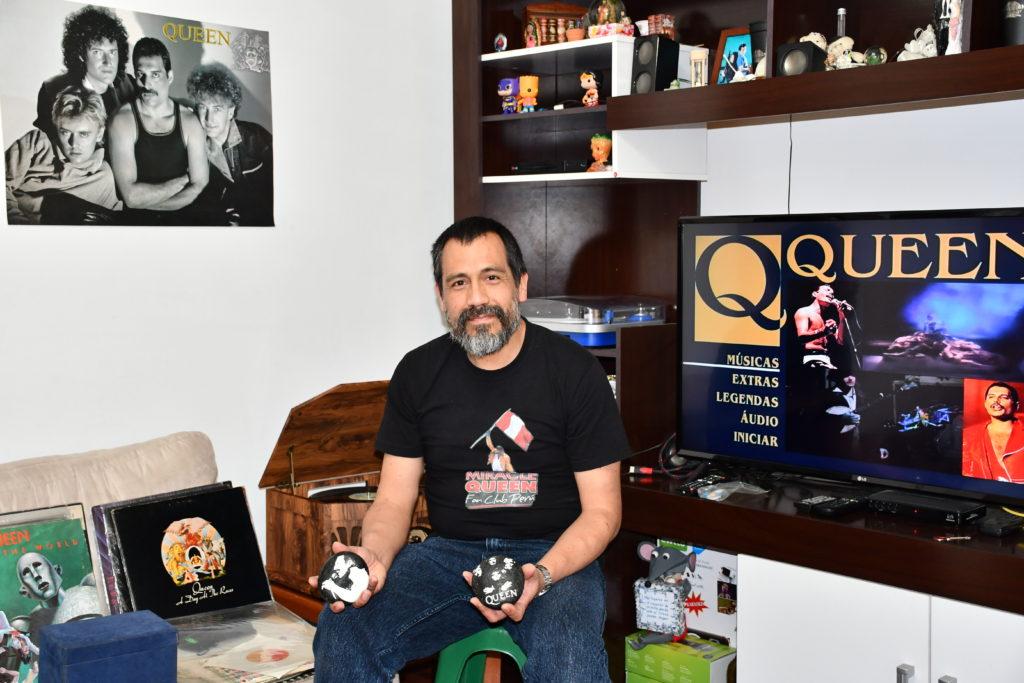 Juan Carlos Salas y su rincón de Queen