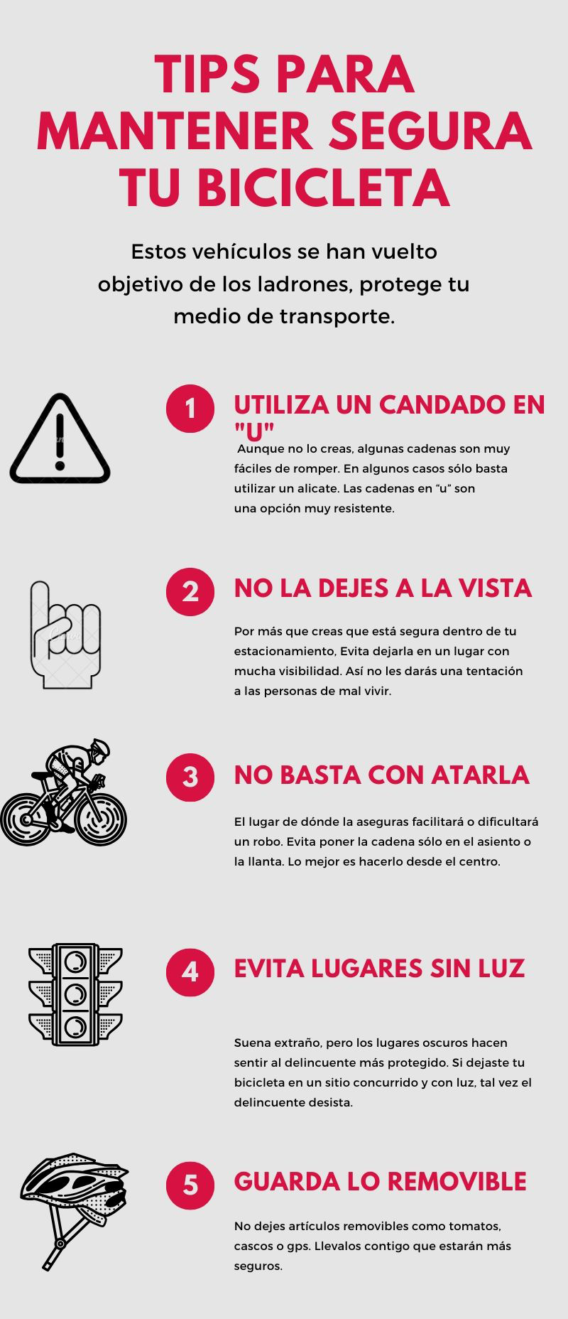 Infografia: tips para tener segura tu bicicleta