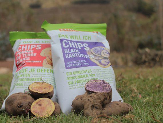 Las papas andinas en su versión final: Chips. Fuente propia.